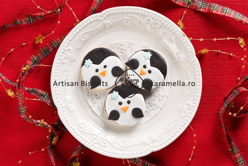 Biscuiți decorați personaje Crăciun