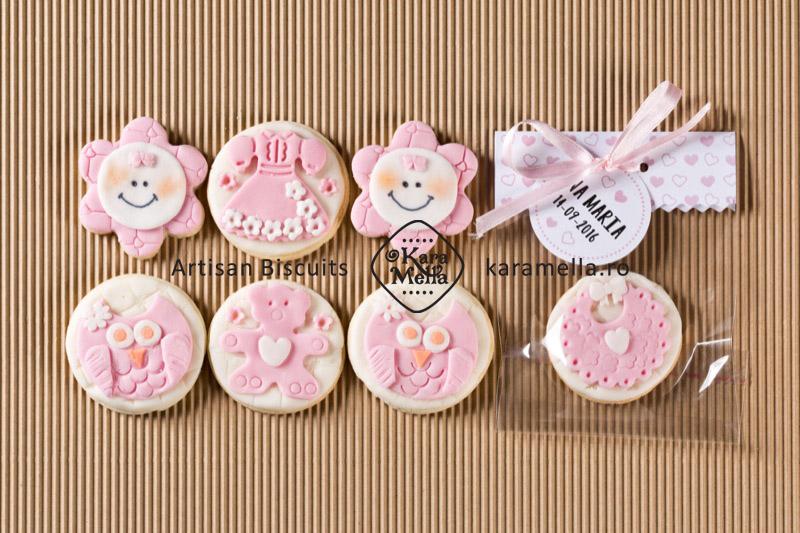 Biscuiți decorați mărturii botez fetiță