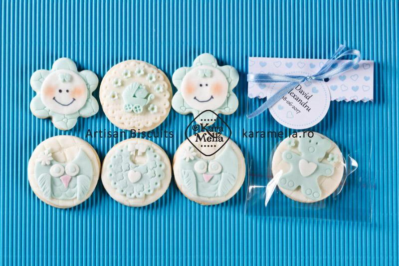 Biscuiți decorați mărturii botez băiețel