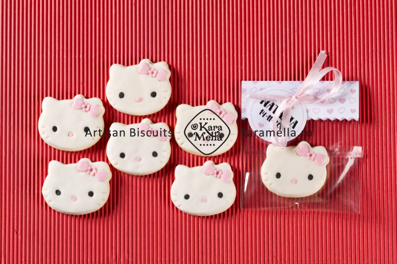Biscuiți decorați Hello Kittty