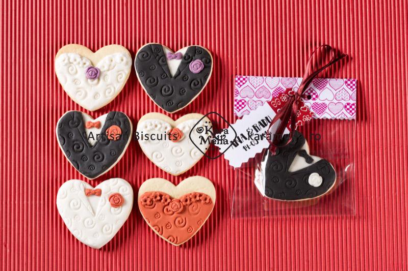 Biscuiți decorați mărturii nuntă