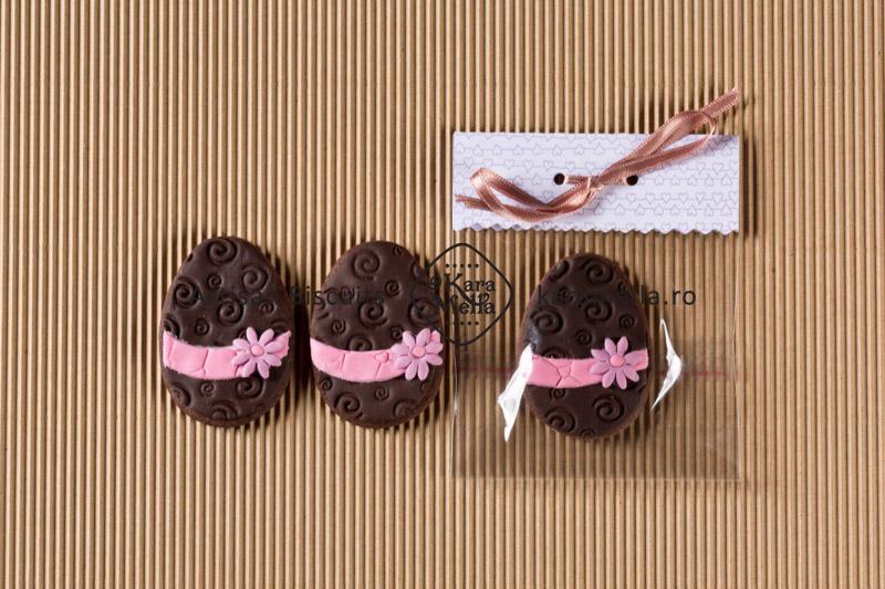Biscuiți decorați ouă de Paști