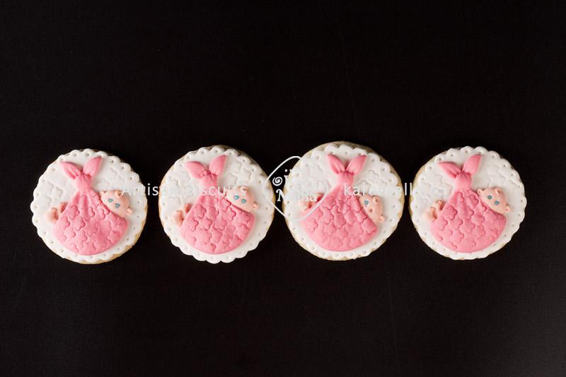 Biscuiți decorați mărturii botez fetiță M2