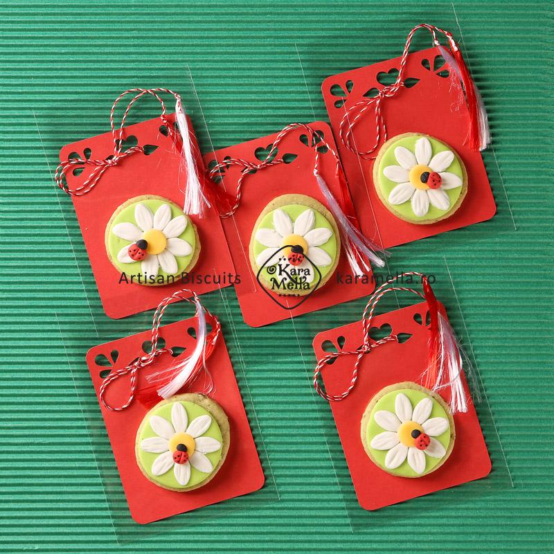 Biscuiți decorați mărțișoare